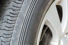 Часть колеса используемого автомобилем Стоковые Фото
