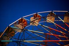 Часть колеса Ferris на ноче Стоковое Изображение