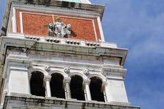 Часть колокольни, квадрата St Mark, Венеции, Италии Стоковая Фотография RF