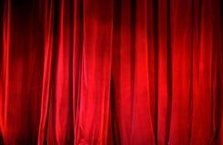 Часть красного занавеса Стоковое Фото