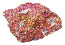 Часть красного изолированного камня халькопирита Стоковое фото RF