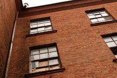Часть красного кирпичного здания Стоковое Фото