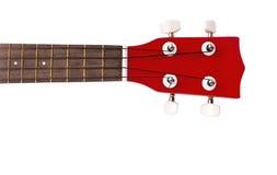 Часть красной гавайской гитары Стоковые Фотографии RF