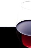 Часть крупного плана стекла с красным вином Стоковое Изображение RF