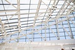 Часть крыши от стекла и стали в стиле Стоковые Фото