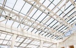 Часть крыши от стекла и стали в стиле Стоковая Фотография RF