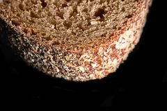 Часть куска макроса хлеба Стоковое Изображение