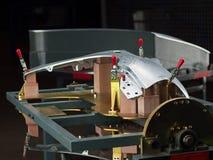 Часть металлического листа готовая к осмотру Стоковая Фотография