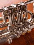 Часть механизма клапана старого tenorhorn Стоковая Фотография RF