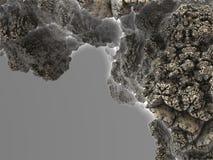 Часть минеральной структуры (утеса), части астероидной фрактали стоковые изображения rf