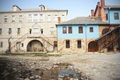 часть монастыря на Mount Athos, Греции стоковое фото