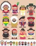 Часть 3 национальностей иллюстрация штока
