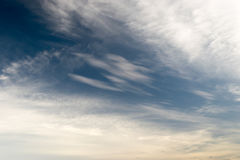 Часть неба белая сформирована красиво, Стоковые Фотографии RF