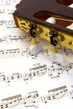 часть нот гитары Стоковое Изображение
