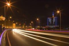 часть ночи моста Стоковое Изображение RF