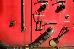 Часть оборудования пожарной машины Стоковое Фото