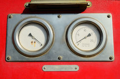 Часть оборудования пожарной машины Стоковая Фотография RF