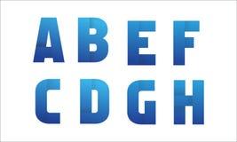 Часть 1 логотипа письма Стоковое Изображение RF