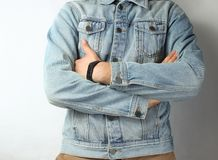 Часть одетого человека стоковая фотография