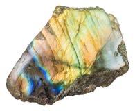 Часть отполированной драгоценной камня лабрадорита labrador Стоковые Фото