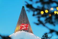 Часть офиса Санта Клауса в деревне Лапландии Санта Клауса Стоковое Изображение RF