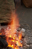 Часть печи для нагревая пробелов металла Стоковая Фотография