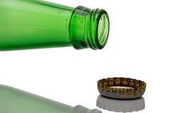 Часть пивной бутылки Стоковая Фотография RF