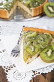 Часть пирога кивиа Стоковое Фото