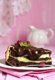 Часть пирожного шоколада с mascarpone стоковое фото rf