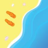 часть пляжа Стоковая Фотография
