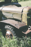 Часть покинутой тележки Стоковая Фотография