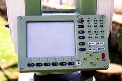 Часть полных дисплея и клавиатуры аппаратур станции Стоковые Изображения RF