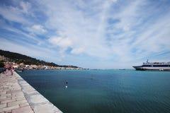 Часть порта и города Zakinthos Стоковое Фото