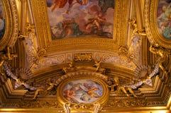Часть потолка в итальянском дворце в Флоренсе Стоковое фото RF