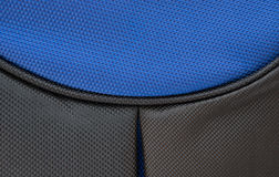Часть поднимающего вверх сини и рюкзака близкое Стоковые Изображения RF