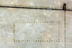 Часть предпосылки металла grunge воздушных судн Стоковое Изображение