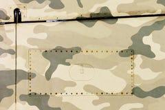 Часть предпосылки металла grunge воздушных судн, camo армии Стоковое Изображение RF