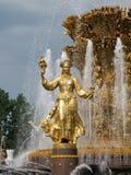 Часть приятельства фонтана людей Стоковые Фотографии RF