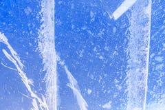 Часть прозрачного льда Стоковая Фотография