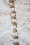 Часть платья венчания Стоковая Фотография