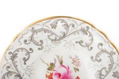 Часть плиты фарфора на белой предпосылке Стоковое Изображение