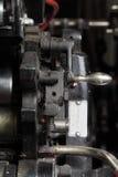Часть ретро печатной машины Стоковое Изображение