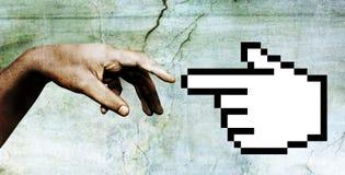 часть руки 2 богов Стоковая Фотография
