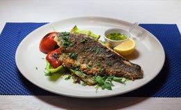 Часть рыб с перцем Стоковое фото RF