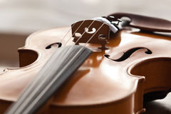 Часть скрипки стоковая фотография
