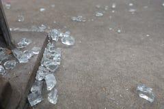 Часть сломленного стекла Стоковые Фото