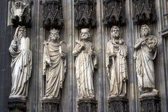 Часть собора Кёльна римско-католическая готическая Стоковые Изображения RF