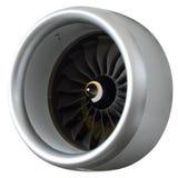Часть современного двигателя турбовентилятора Стоковые Изображения
