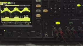 Часть современного цифрового осциллографа Научное измерительное оборудование абстрактная предпосылка промышленная цифрово видеоматериал