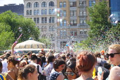 Часть 4 13 сражения NYC 2015 пузыря Стоковое фото RF